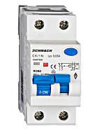 Дифференциальный автоматический выключатель Schrack 6кА/30мА 1P+N 10A х-ка C тип A
