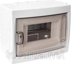 Купить бокс для установки автоматических выключателей и т.п. с номинальным током не более 40 А, при температуре окружающей среды от -5 ºС до +40 ºС. Для размещения 6-ти и менее электроаппаратов.