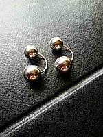 Серебряные серьги пусеты