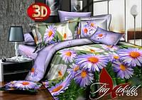 Постельное белье с 3d эффектом полуторное Поле цветов