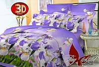 3Д постельное белье Ирисы полуторное