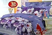 Красивый комплект постельного 3Д белья Цветы полуторное