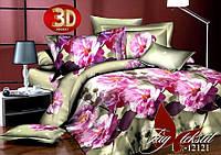 Постельное 3Д белье 1,5 спальное Цветы