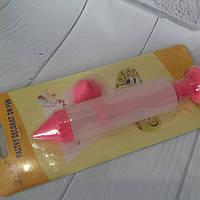 Шприц кондитерский силиконовый для декора с насадками для надписей
