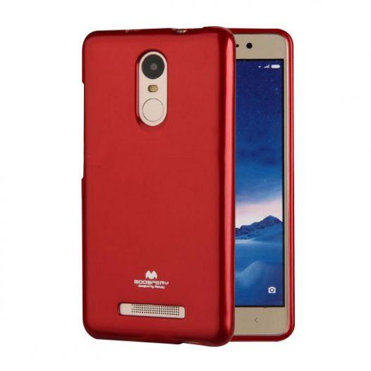 TPU чехол Mercury Jelly Color series для Xiaomi Redmi Note 4 (MTK) Красный