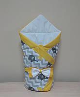 Конверт-одеяло желтый