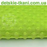 Плюш minky светло-зелёного цвета, фото 2