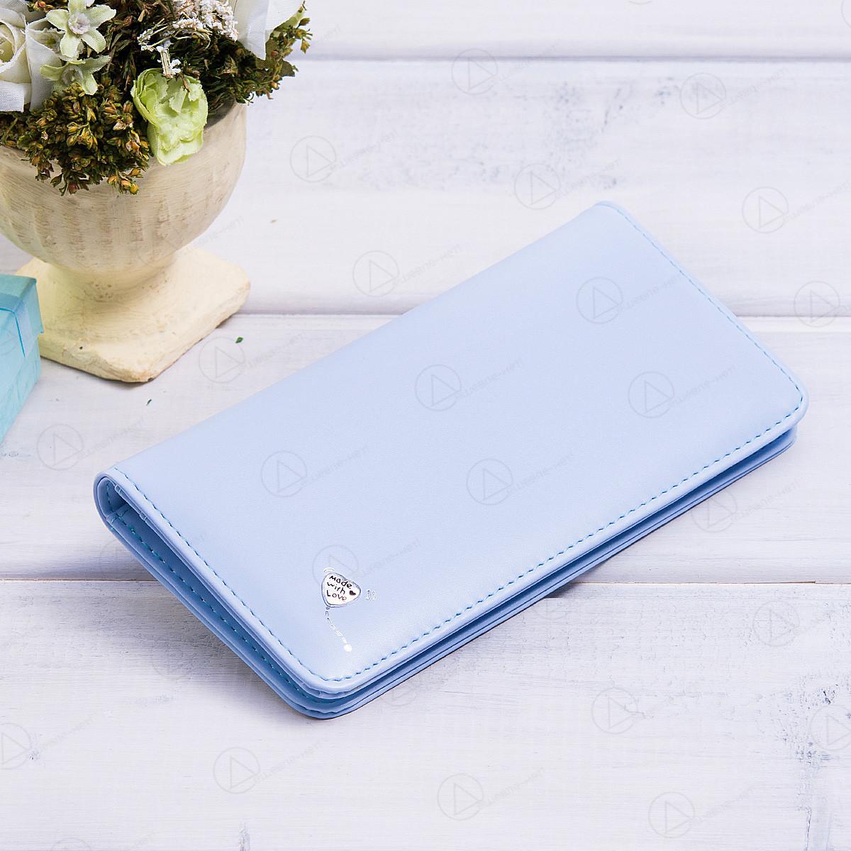 Й кошелек женский c тремя отделениями T5083-027light_blue