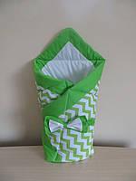 Конверт-одеяло зеленый