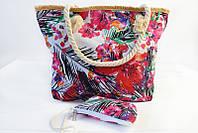 Пляжная сумка с косметичкой