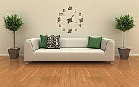 Часы из дерева настенные с резными арабскими цифрами диаметр 70 см