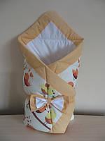 Конверт-одеяло персиковый