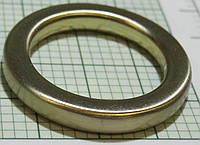 Кольцо для сумок (Италия) металл, литое (матовое, белое золото)