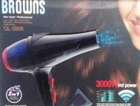 Фен для волос Professional Browns BS-5808, 3000 W с функцией ионизации