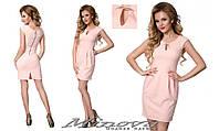 Стильное платье с карманами, размер 42, 44 , 46, 48. Ткань креп-костюмка. В наличии 5 цветов