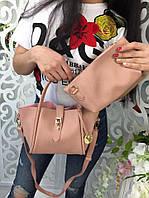 Модная женская сумка 2 в 1 фабричный Китай цвет розовый