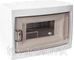 Купить бокс для установки автоматических выключателей и т.п. с номинальным током не более 40 А, при температуре окружающей среды от -5 ºС до +40 ºС. Для размещения 8-ми и менее электроаппаратов.