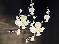 Цветок клеевой, цвет белый, 10 шт в упаковке