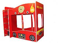 Кровать двухъярусная машинка Пожарная Форсаж