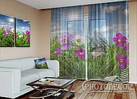 """ФотоТюль """"Полевые цветы"""" (2,5м*3,9м, карниз 3,0м)"""