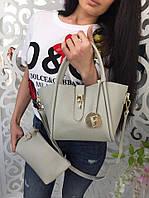 Модная женская сумка 2 в 1 фабричный Китай цвет серый