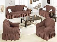 Комплект универсальных чехлов на мягкую мебель (2 дивана+2 кресла )