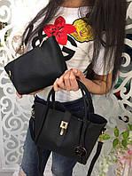 Модная женская сумка 2 в 1 фабричный Китай цвет черный