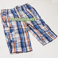 Детские шорты р. 122-128 для мальчика тонкие ткань 100% ХЛОПОК 1016 Голубой 128