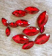 Кристалл Маркизы без цап 9*18 мм , красный