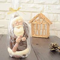 "Шоколадная фигура ""Дед Мороз с подарками"" элитный шоколад Размер 40х180х87,вес 180гр ст.233"