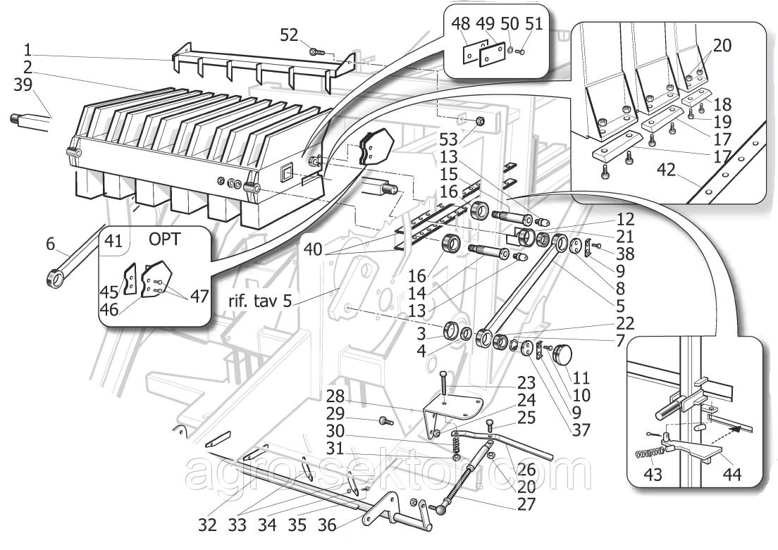 Шина бігова доріжка поршня прес-підбирача Supertino/ППТ-1270 SR02506B
