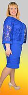 Женское платье с пиджаком большого размера №1294