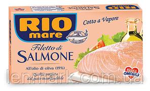 Филе лосося в оливковом масле Rio mare Filetto di salmone all'Olio d'Oliva 150г