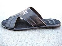 Сланцы, тапочки, шлепанцы кожаные мужские Adidas 40 -45