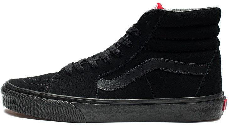 Кеды Vans Old Skool high CANVAS SK8-HI All Black (унисекс), vans old school, ванс олд скул