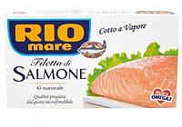 Филе лосося в собственном соку Rio mare Filetto di salmone al Naturale 150г