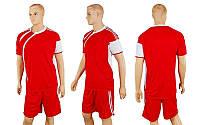 Футбольная форма CO-307-R (р-р M-XXL, красный, шорты красные)