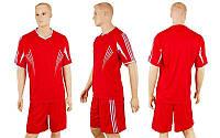 Футбольная форма CO-306-R (р-р M-XXL, красный, шорты красные)