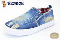 Кеды Vesnoe джинсовые размер 31-36