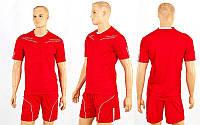 Футбольная форма CO-6001-R (р-р M-XXL, красный, шорты красные)