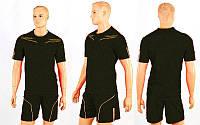 Футбольная форма CO-6001-BK (р-р M-XXL, черный, шорты черные)