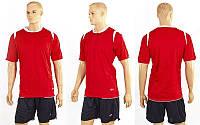Футбольная форма ZA CO-2558-R (р-р M-XXL, красный, шорты черные)