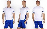Футбольная форма Favorite CO-1603-W (PL, р-р M-XXL, белый, шорты синие)