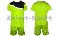Футбольная форма подростковая Wave CO-4588-LG (PL, р-р М-XL, салатовый, шорты салатовые)