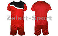 Футбольная форма подростковая Wave CO-4588-R (PL, р-р M-XL, красный, шорты красные)