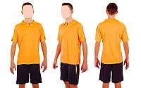 Футбольная форма подростковая New game CO-4807-P (PL, р-р M-XL, коралловый, шорты черные)