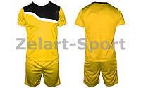 Футбольная форма подростковая Wave CO-4588-Y(L) (PL, р-р M-XL, желтый, шорты желтые)