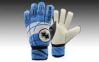 Перчатки вратарские FB-0037-03B ERREA (PVC, р-р M-XL, голубой-черный-белый)