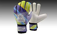 Перчатки вратарские FB-0037-10 CHAMPIONS LEAGUE (PVC, р-р M-XL, мультиколор)