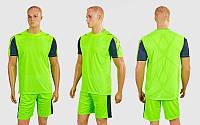 Футбольная форма Height CO-1014-LG (PL, р-р M-XXL, салатовый-серый, шорты салатовые)